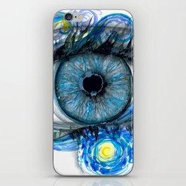 Starry Night Eye Artwork iPhone Skin