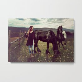 Friesian Morning Metal Print
