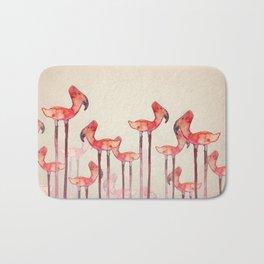 Transmogrified Flamingo Colony Bath Mat