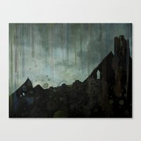 celtic Canvas Prints featuring Celtic ruin  by IvaW