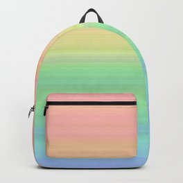 Abstract Pastel Rainbow II Colored gradient stripes Backpack