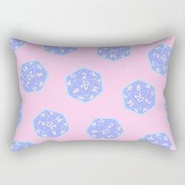 Twenty Sided Dice Pattern Rectangular Pillow
