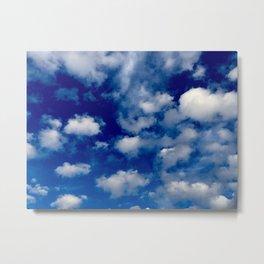 Midwestern winter blue skies Metal Print