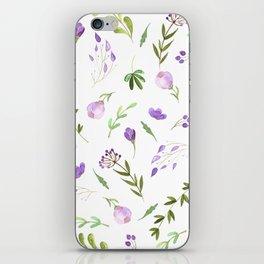Purple Flower Field iPhone Skin
