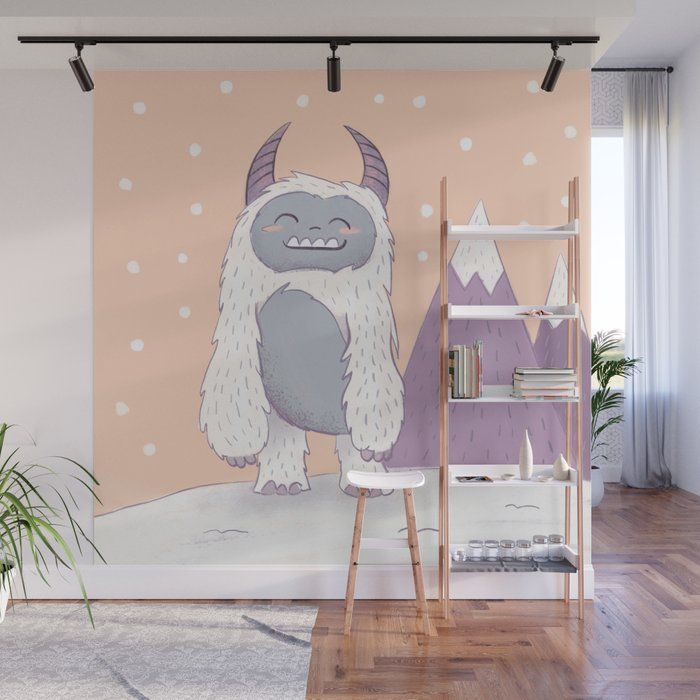 Yeti in the Mountains Wall Mural
