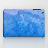 salt water iPad Cases featuring Blue Salt Crystal Surf by LacyDermy