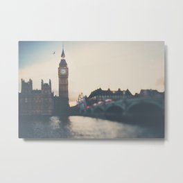 sunset over the city ... Metal Print