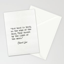 Edward Lear quote Stationery Cards