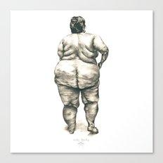 mujer en la ducha Canvas Print