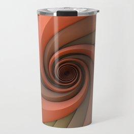 Spiral in Earth Tones Travel Mug