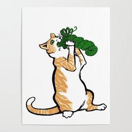 Cats&Yarn - Red Tom Poster