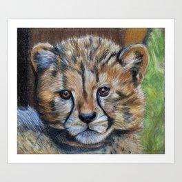 Cheetah Cub Art Print