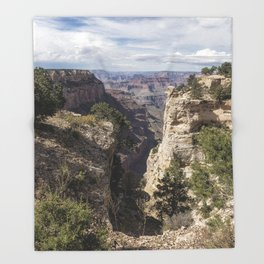 A Vertical View - Grand Canyon Throw Blanket