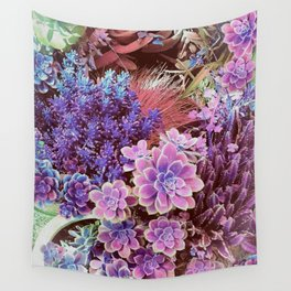Succulent Garden View Wall Tapestry