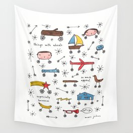 things with wheels Wall Tapestry