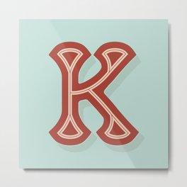 BOLD 'K' DROPCAP Metal Print