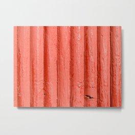 Red wall Metal Print
