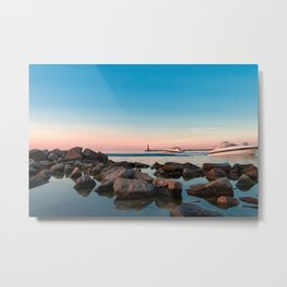Pleasure boats on the coast at the Blue Hour Metal Print
