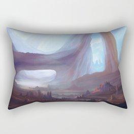 Colorful fantasy landscape drawing Rectangular Pillow