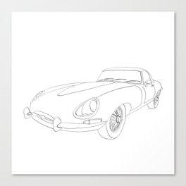 Black E-Type sports car Canvas Print