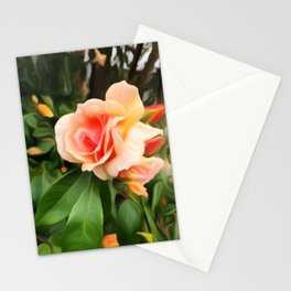 Apricot Rose - Painterly Beauty Stationery Cards