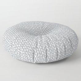 Hand Knit Light Grey Floor Pillow