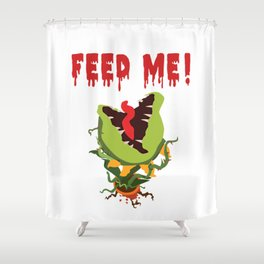 Little Shop of Horrors | Audrey II | Feed Me Shower Curtain