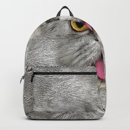 Funny Furry Cat Backpack
