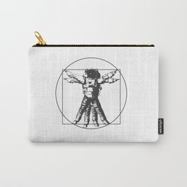 Vitruvian with spacer flair on white Carry-All Pouch