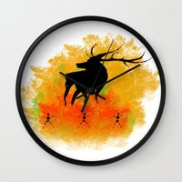 native Wall Clocks featuring Native by Max Wellsman