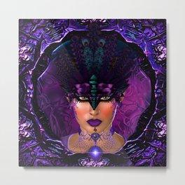 The Purple Queen Metal Print