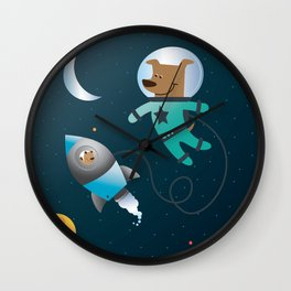 Space Dog Wall Clock