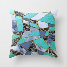 Abstract #457 Marble Shards Throw Pillow