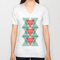 geo V-neck T-shirts featuring Geo by Jamie Fife