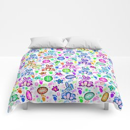Easter Bunny Rainbow Party Comforters