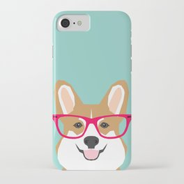 Teagan Glasses Corgi cute puppy welsh corgi gifts for dog lovers and pet owners love corgi puppies iPhone Case