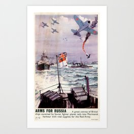 Arms for Russia Art Print