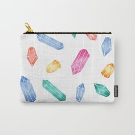 Crystals pattern - White2 Carry-All Pouch
