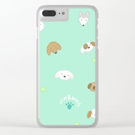 Pup Mom Clear iPhone Case