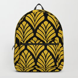 Tangiers Luxurious Black and Gold Art Deco Pattern Backpack