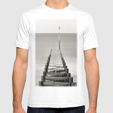 Number 11 White Mens Fitted Tee MEDIUM