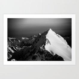 Black and White Aerial I Art Print