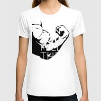 crossfit T-shirts featuring CAN YOU FEEL THE PUMP? FITNESS SLOGAN CROSSFIT MUSCLE by HAPPY