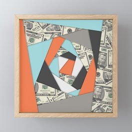 Layered Money Framed Mini Art Print