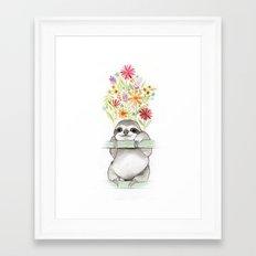 Le Sloth Framed Art Print