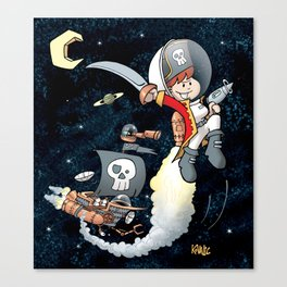 Space Pirate Gilly Canvas Print