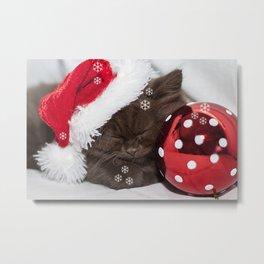 Christmas Pudding Metal Print