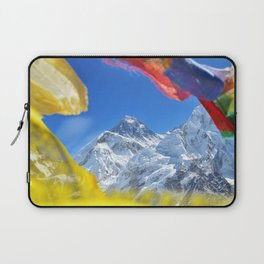 Summit of mount Everest or Chomolungma - highest mountain in the world, view from Kala Patthar,Nepal Laptop Sleeve