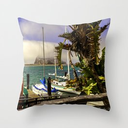 Tropical Morro Bay Throw Pillow