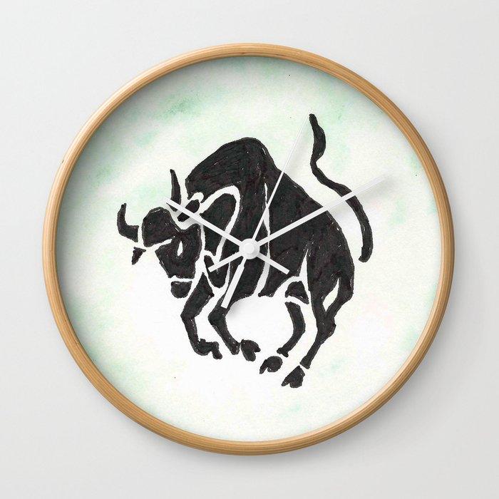 Taurus Zodiac Sign Wall Clock By Anniemason Society6